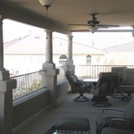 patio roof with ceiling fans