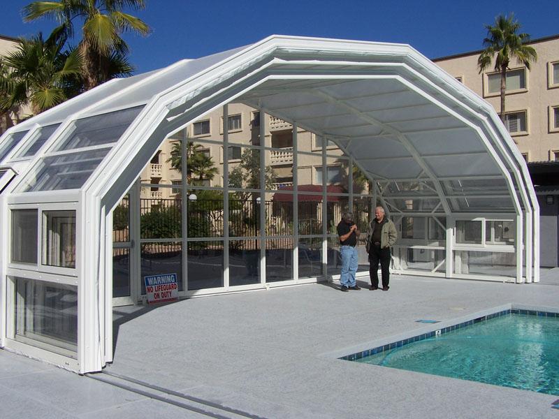Retractable pool enclosure in Scottsdale Arizona