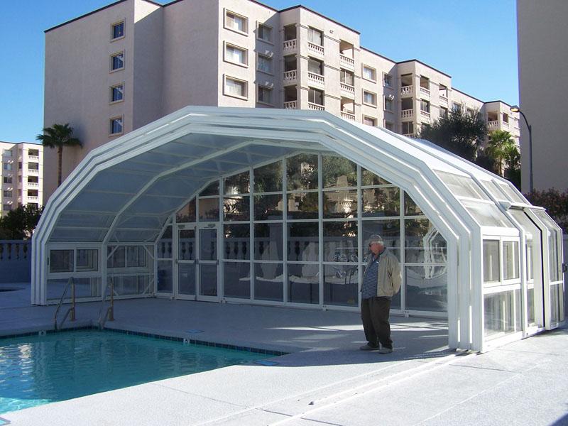 LIBART Retractable pool enclosure in Scottsdale Az